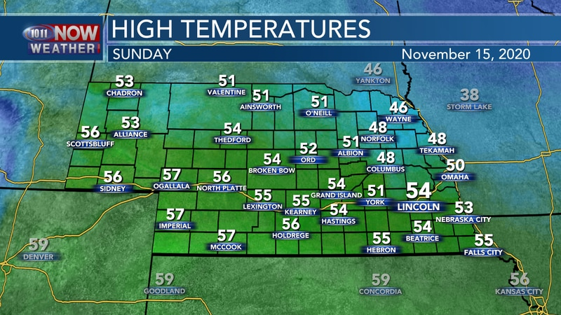 Sunny skies with breezy west winds are expected Sunday with fairly seasonal temperatures for...