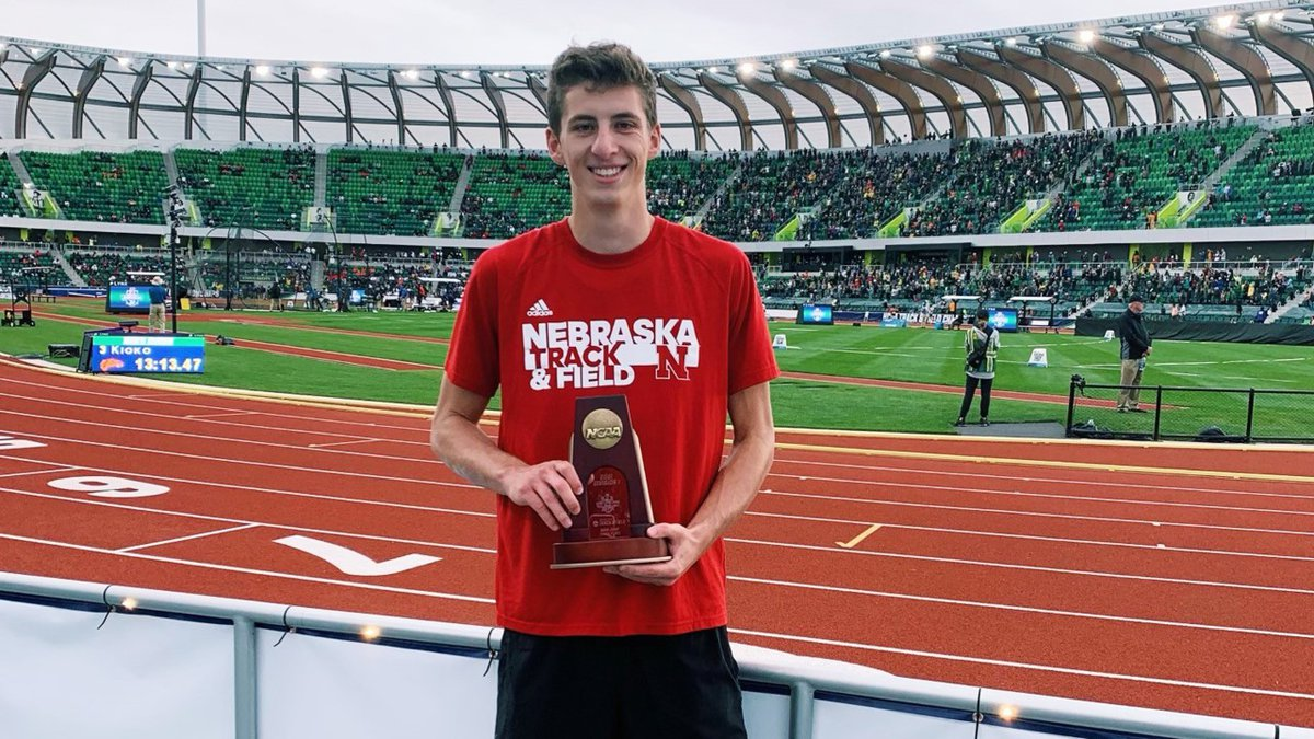 Nebraska track and field junior Mayson  Conner became the first Husker men's high jumper to...