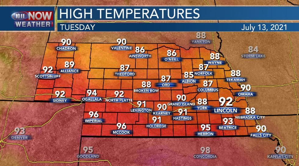 It will be hotter and muggy Tuesday.