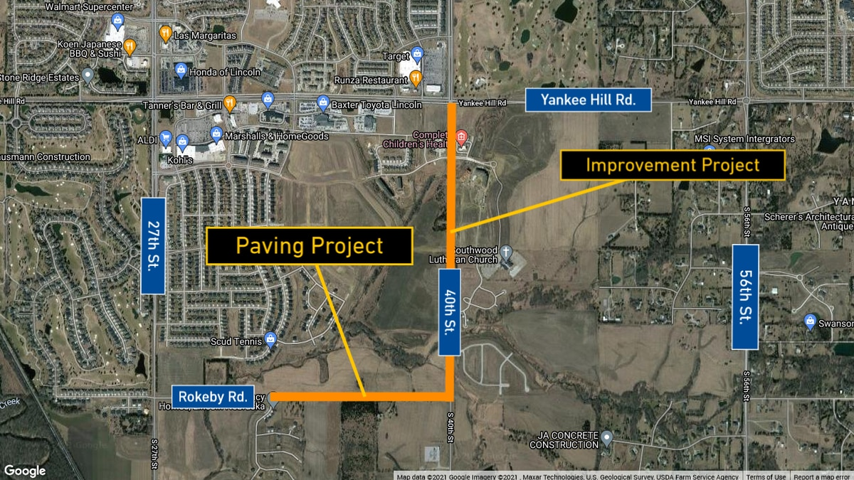 40th Street & Rokeby Road rehab projects, according to LTU.