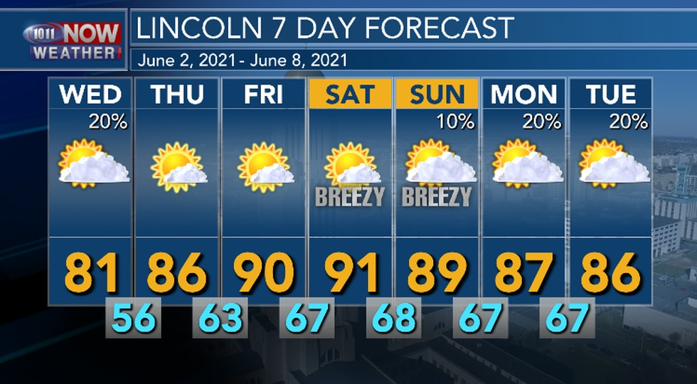 Mainly above average temperatures are in the forecast through early next week. There are some...