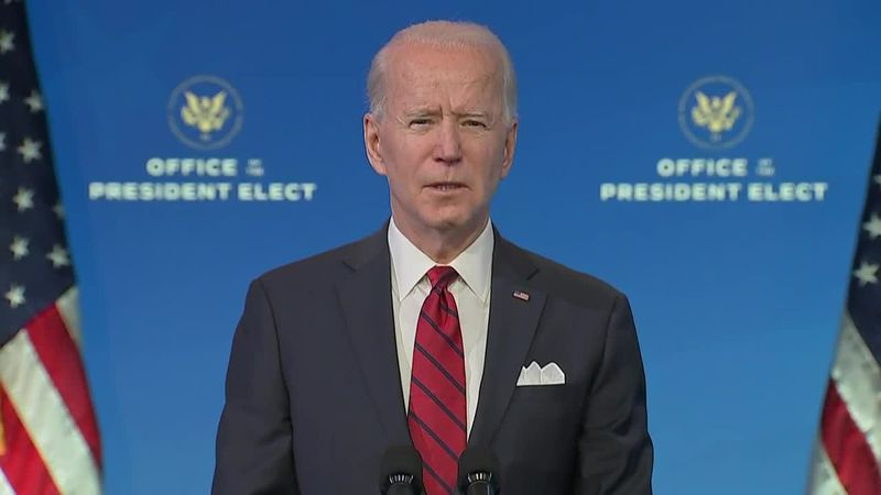 President-elect Joe Biden outlined his plan for production and distribution of the COVID-19...