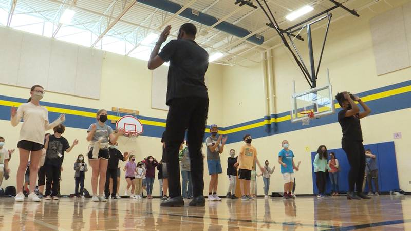 Step Afrika! teaches LPS students step routine