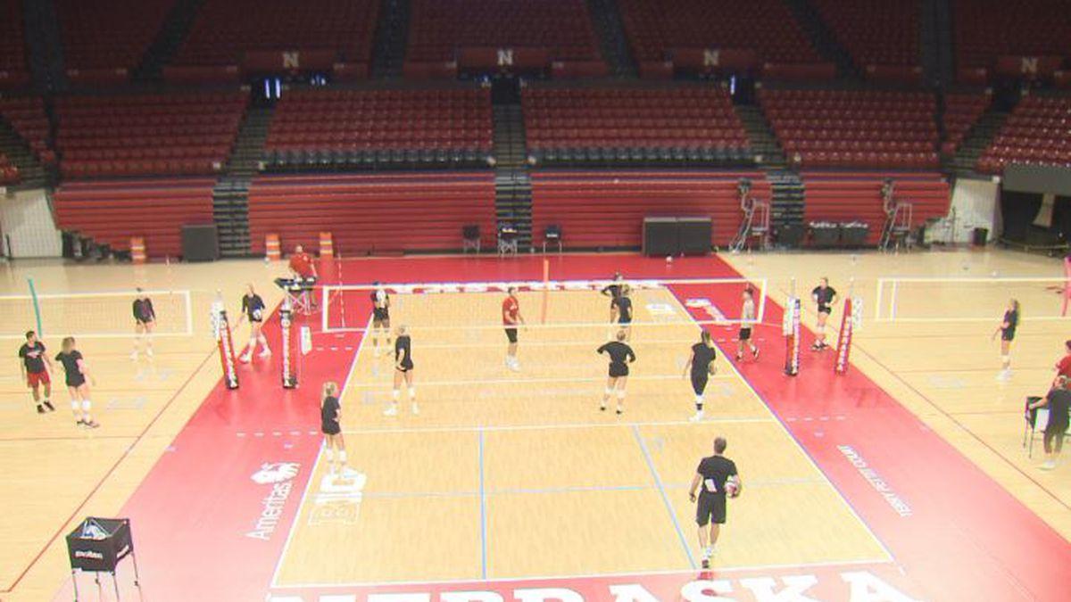 Nebraska Volleyball practice (Source: 1011 Sports)