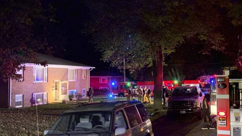 The scene of an apartment fire near 40th & G Streets Sunday night.