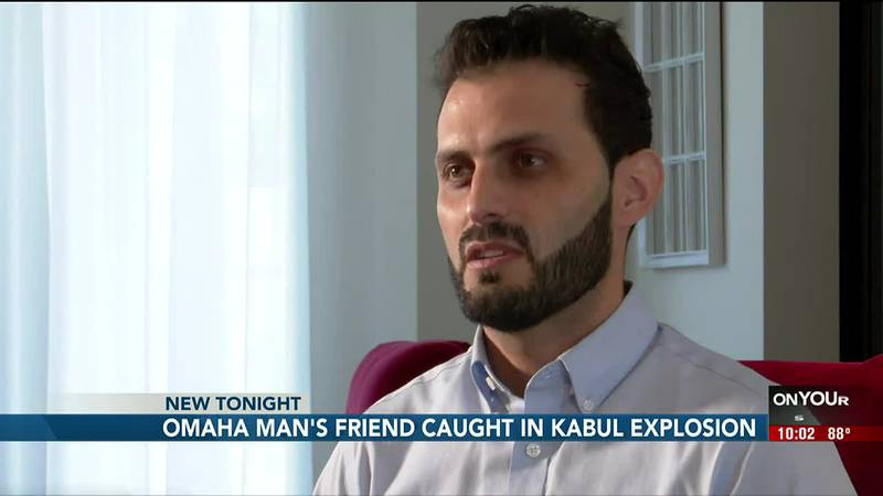 An Afghan-American man is describing images caught by a friend Thursday at the Kabul airport...