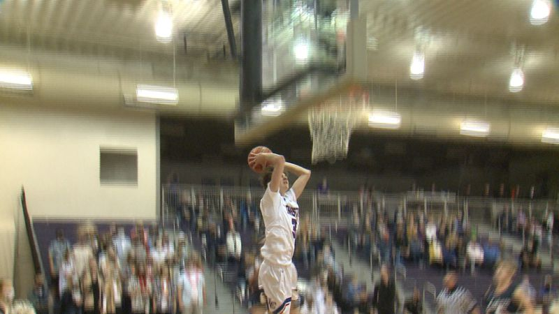 Lincoln Christian senior Drew Beukelman goes up for a dunk during the Crusaders win over rival...
