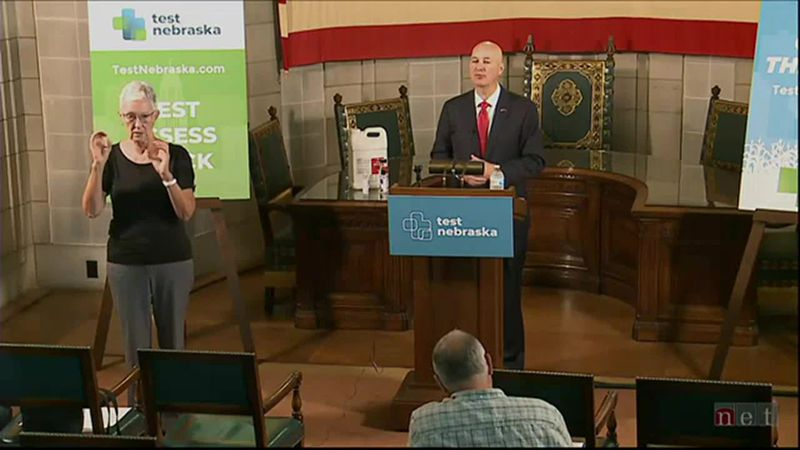 Gov. Pete Ricketts gave an update Monday, Sept. 14, 2020, on Nebraska's COVID-19 response and...