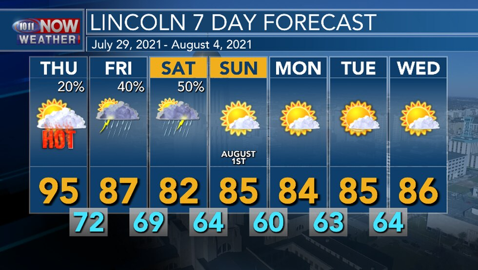 Weather pattern change begins Friday with cooler temperatures returning to the area. There are...