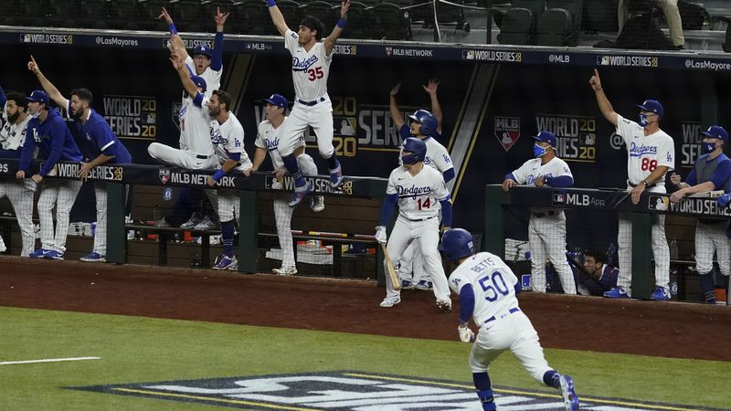 Los Angeles Dodgers' Mookie Betts rounds the bases after a home run against the Tampa Bay Rays...