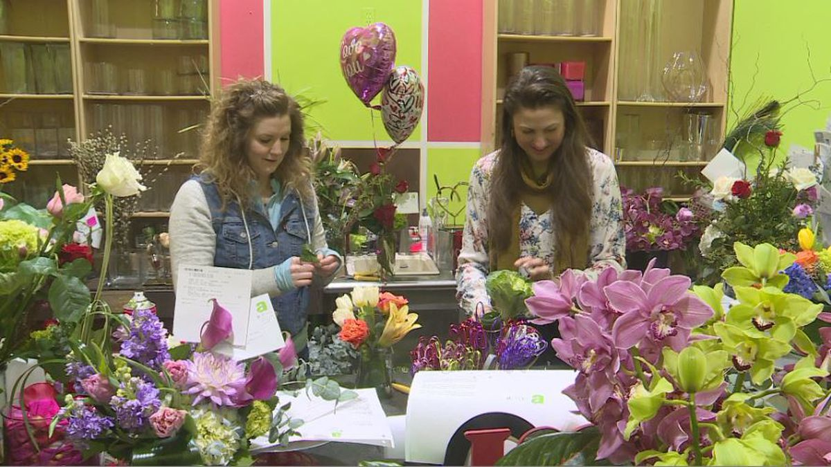 The Valentine's Day planning process at Abloom Florist in downtown Lincoln started back in December when they began placing flower pre-orders. (SOURCE: KOLN)
