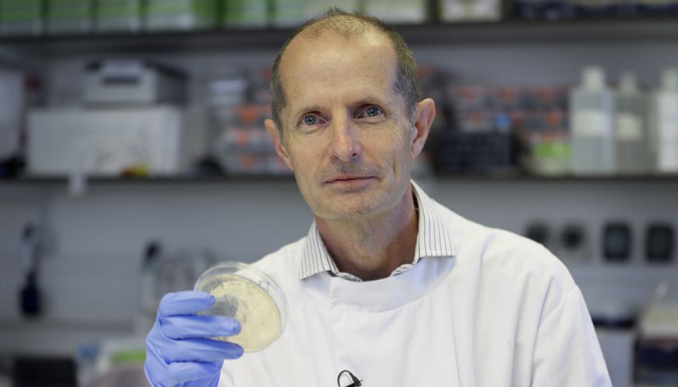 This photo shows Professor Robin Shattock, the head of Mucosal Infection and Immunity within the Department of Medicine at Imperial College in London, Thursday, July 30, 2020.