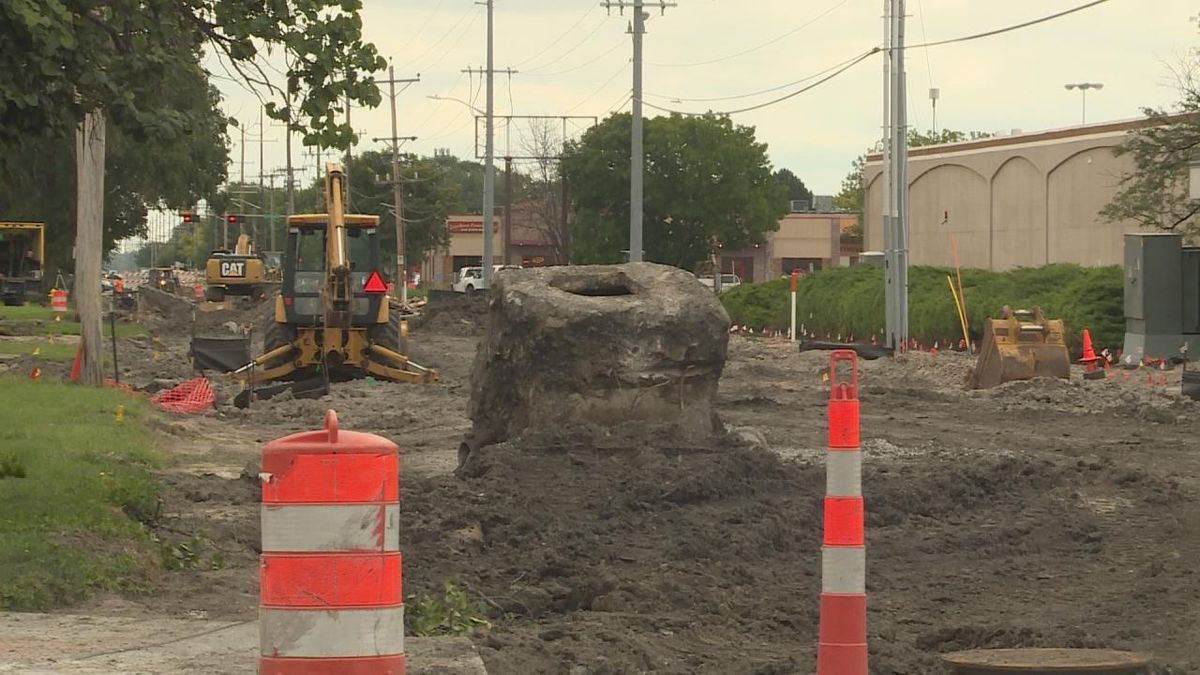 Among the construction projects for District 6 and North Platte is the ongoing improvement of Phillip Avenue. (Source: Erika Siebring, KNOP TV)