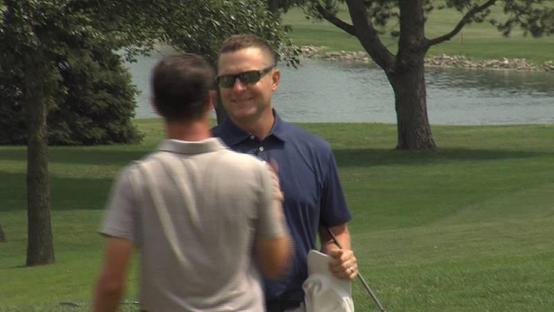 David Easley celebrates winning the Nebraska Amateur.
