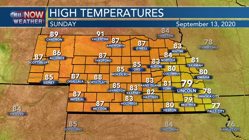 Sunny skies and warmer temperatures are expected to finish the weekend.