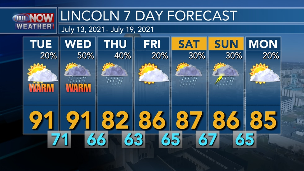 Warmer and more humid weather is expected for Tuesday and Wednesday with off and on...