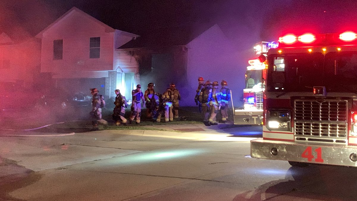 Crews battle a house fire near 79th and Bauman Avenue, early Wednesday morning