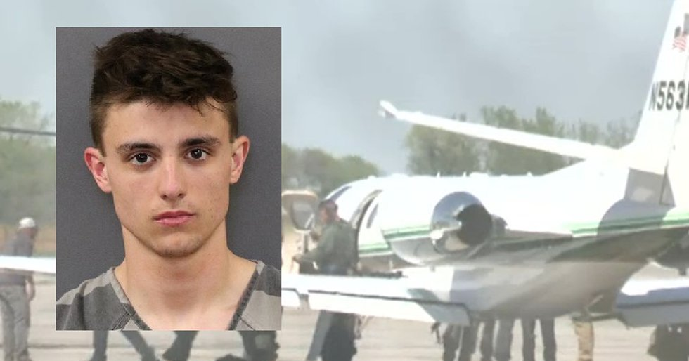Tyler Caudill, 19, face felony weapons and theft charges.