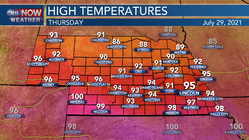 Thursday should not be as hot as Wednesday.