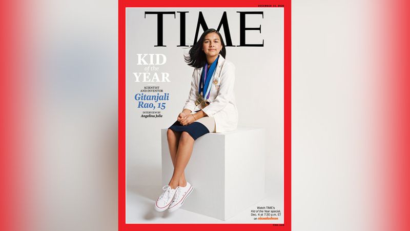 This undated photo provided by Time Magazine shows the cover of its Dec. 14, 2020 issue,...