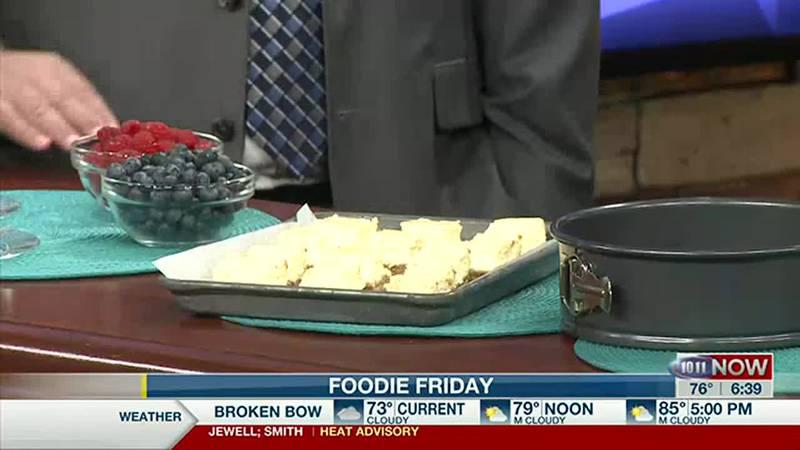Food Friday Cheesecake Bars 10/11 This Morning