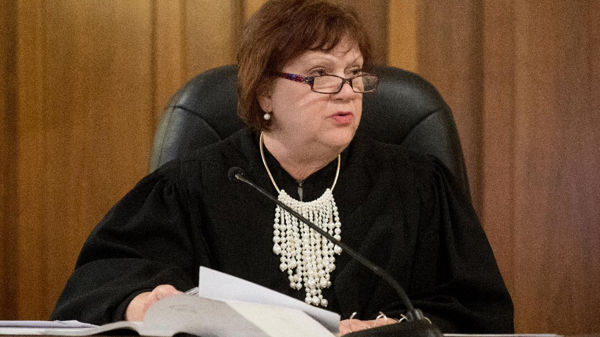 WILBUR, NEB. - 06/18/2019 - Saline County District Court Judge Vicky Johnson talks to the jury on Tuesday, June 18, 2019, prior to the opening statements of the Aubrey Trail Trial at Saline County District Court. FRANCIS GARDLER, Journal Star