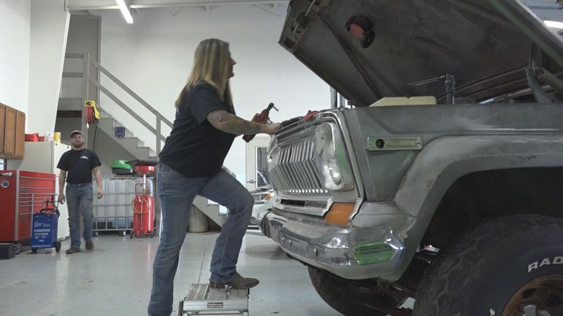 She said she just recently opened the first 100% female owned auto service repair and off road...