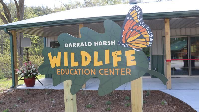 Ribbon cutting of Darrald Harsh Education Center at the Wildlife Safari Park in Ashland,...