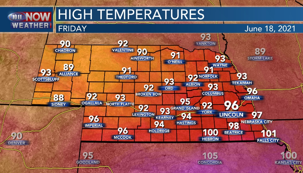 It will be cooler on Friday but, still hot and a bit more humid.