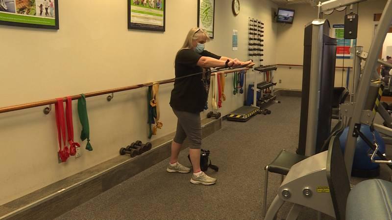 Kelli Finke in pulmonary rehab