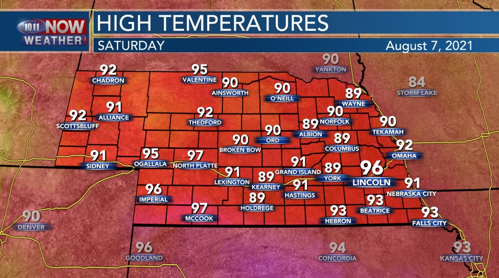 Highs On Saturday