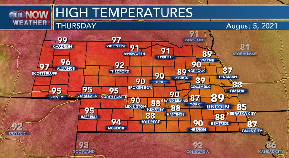 Warmer temperatures expected Thursday afternoon.