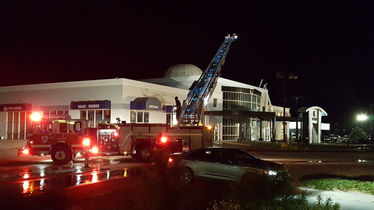 Hastings Fire & Rescue responded to a fire at Paul Spady Motors in Hastings at 2850 Osborne Drive East. (Source: KSNB)