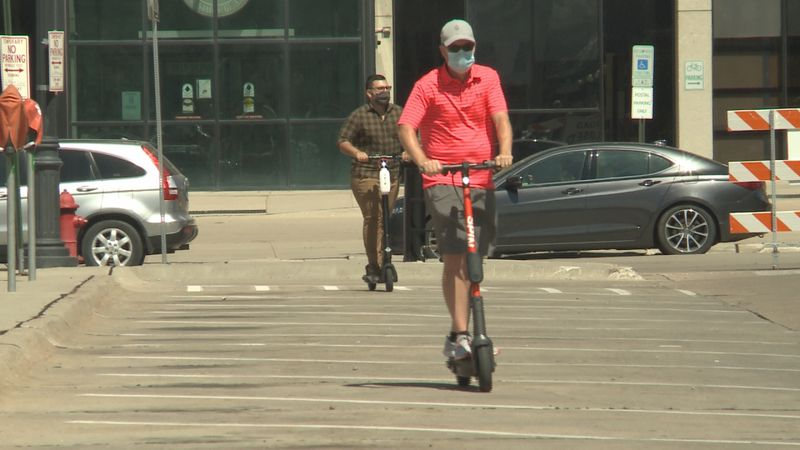 City hosts scooter safety demonstration to prepare community for scooters launch.