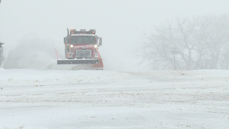 County crews will not start clearing gravel roads until Tuesday Morning at 5 a.m.