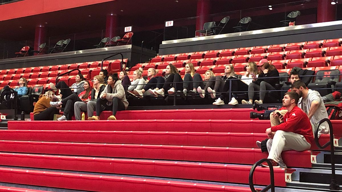 People gather to find out what seed Nebraska Volleyball will get in the 2019 NCAA Tournament (Source: Dan Corey, KOLN)
