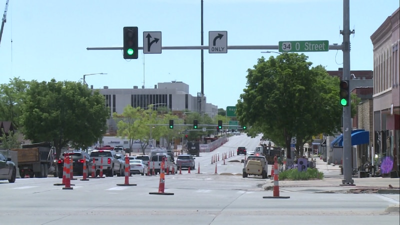 There are already lane closures on Ninth Street. Right now, they're for a Black Hills Energy...