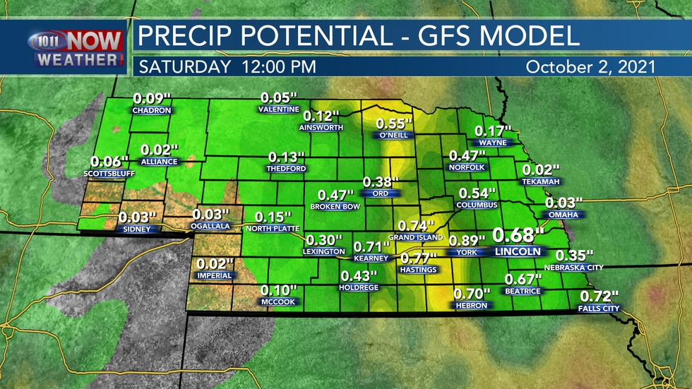 The American model isn't quite as bullish on the heavier rain, keeping rainfall amounts between...
