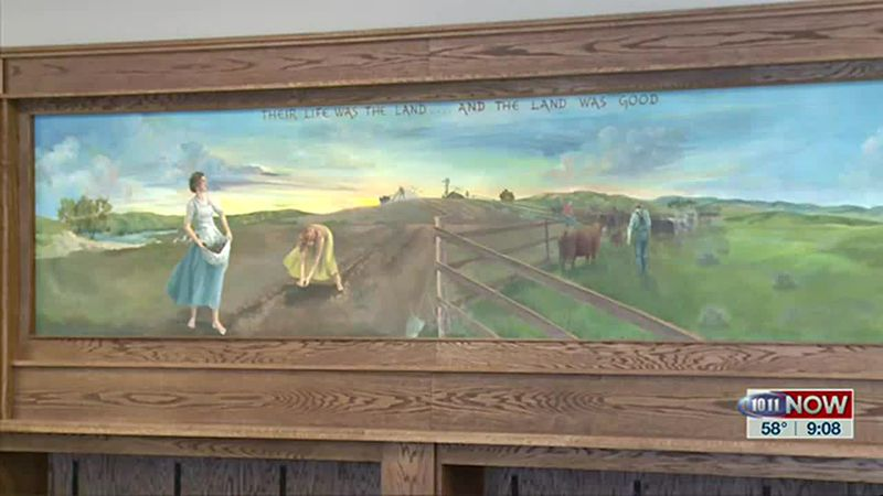 We learn how volunteers worked to restore a special mural by a Broken Bow native.