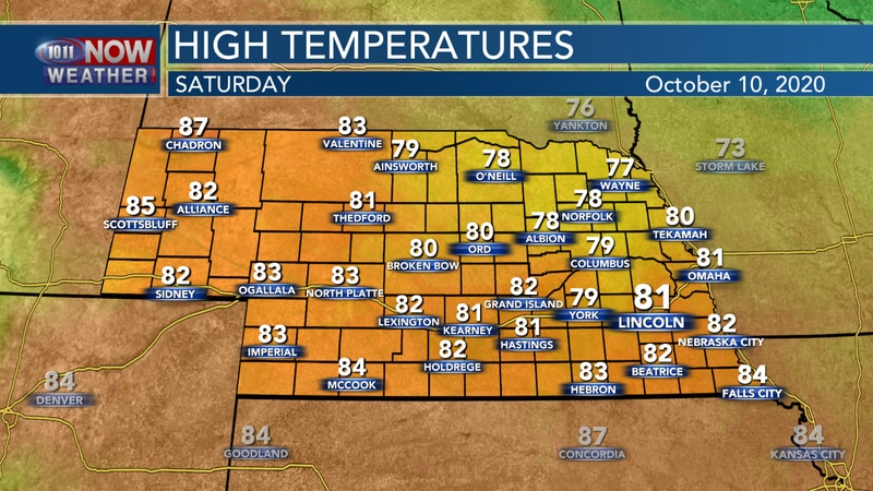 Slightly cooler, but still above average, temperatures are expected on Sunday with more hazy...