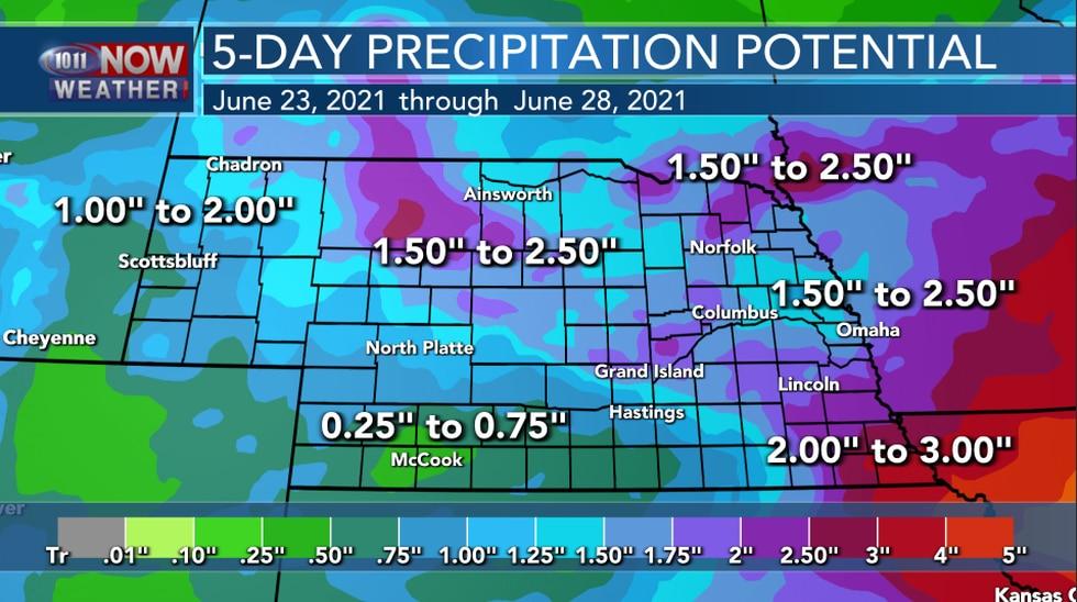 5-Day Precipitation Potential