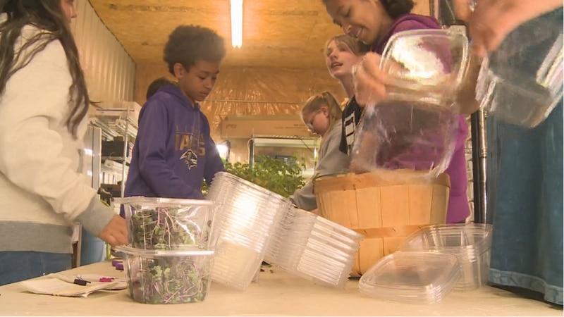 In Season Farm teaches kids farming just feet from their classroom.