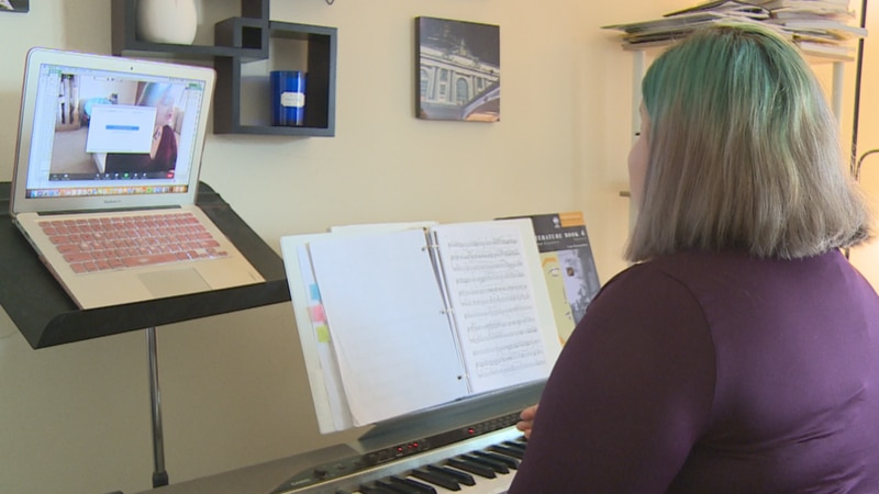 Eliana Matthews's music school usually has her going from home to home to teach but during a...
