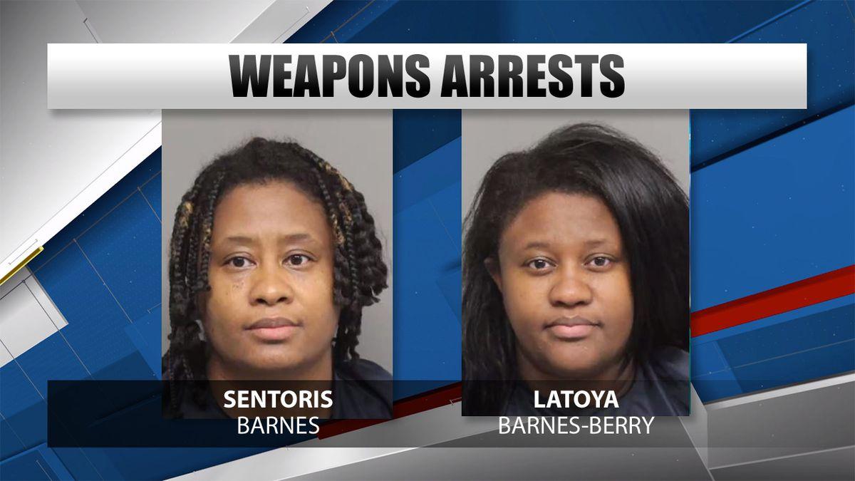 Mug shots of Sentorius Barnes and Latoya Barnes-Berry