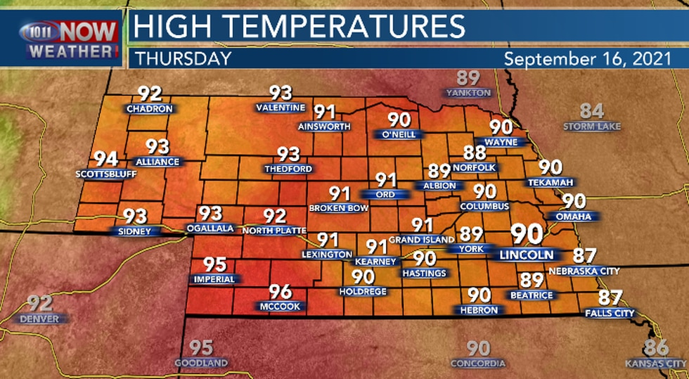 Warmer and more humid Thursday afternoon.