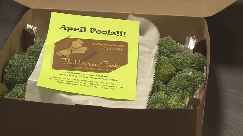 Twenty lucky customers got a box full of broccoli instead of the sweet-smelling cookies...