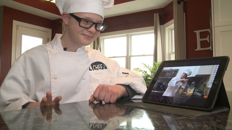 Ethan Echternkamp is a Norris Middle Schooler who had to do remote learning because he has Down...