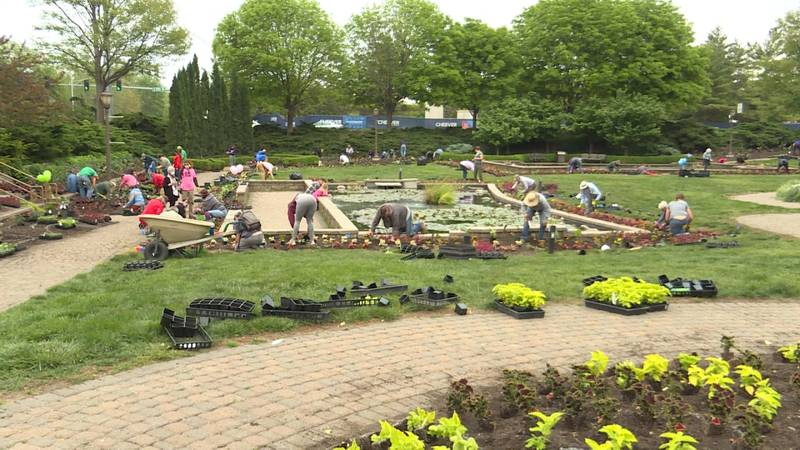 After missing the even last year due to the pandemic, the Sunken Gardens workers brought...