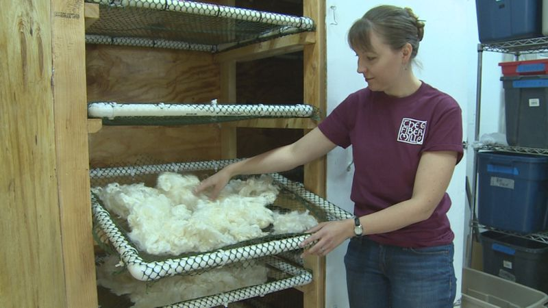 The owner of a Stromsburg business is offering some useful services to small wool producers...