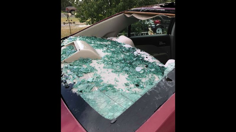 Cars and homes took a hit in Imperial after a severe hail storm made its way through the...